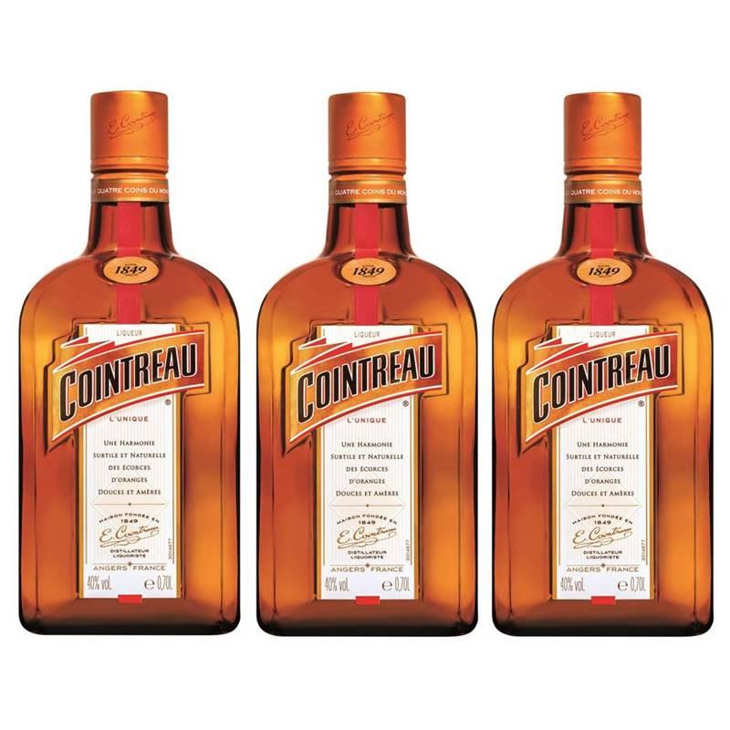 Licor Francês Cointreau 700ml 03 Unidades