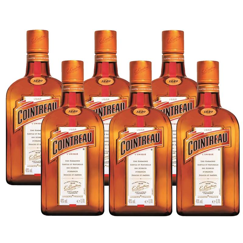 Licor Francês Cointreau 700ml 06 Unidades