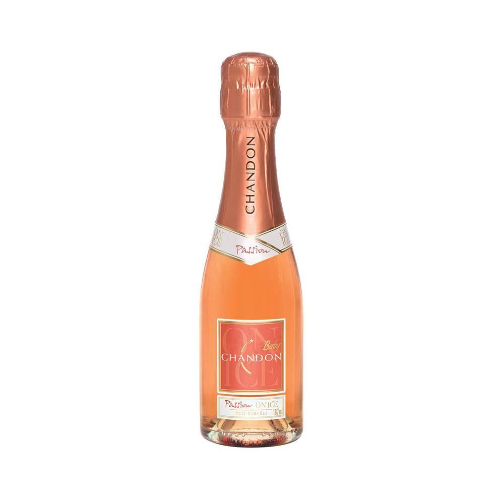 Mini Espumante Chandon Baby Passion Rosé Demi-Sec 187ml