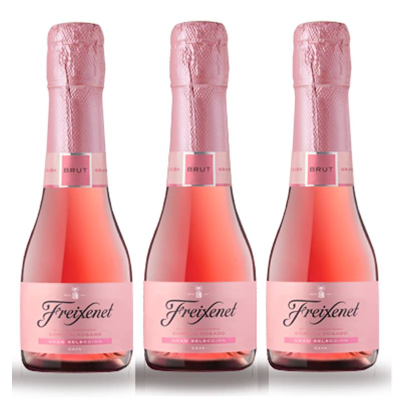 Mini Espumante Freixenet Rose Rosado 200ml Brut 03 Unidades