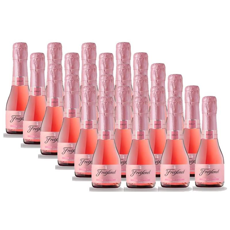 Mini Espumante Freixenet Rose Rosado 200ml Brut 24 Unidades