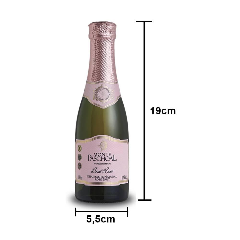 Mini Espumante Monte Paschoal Brut Rosé 187ml