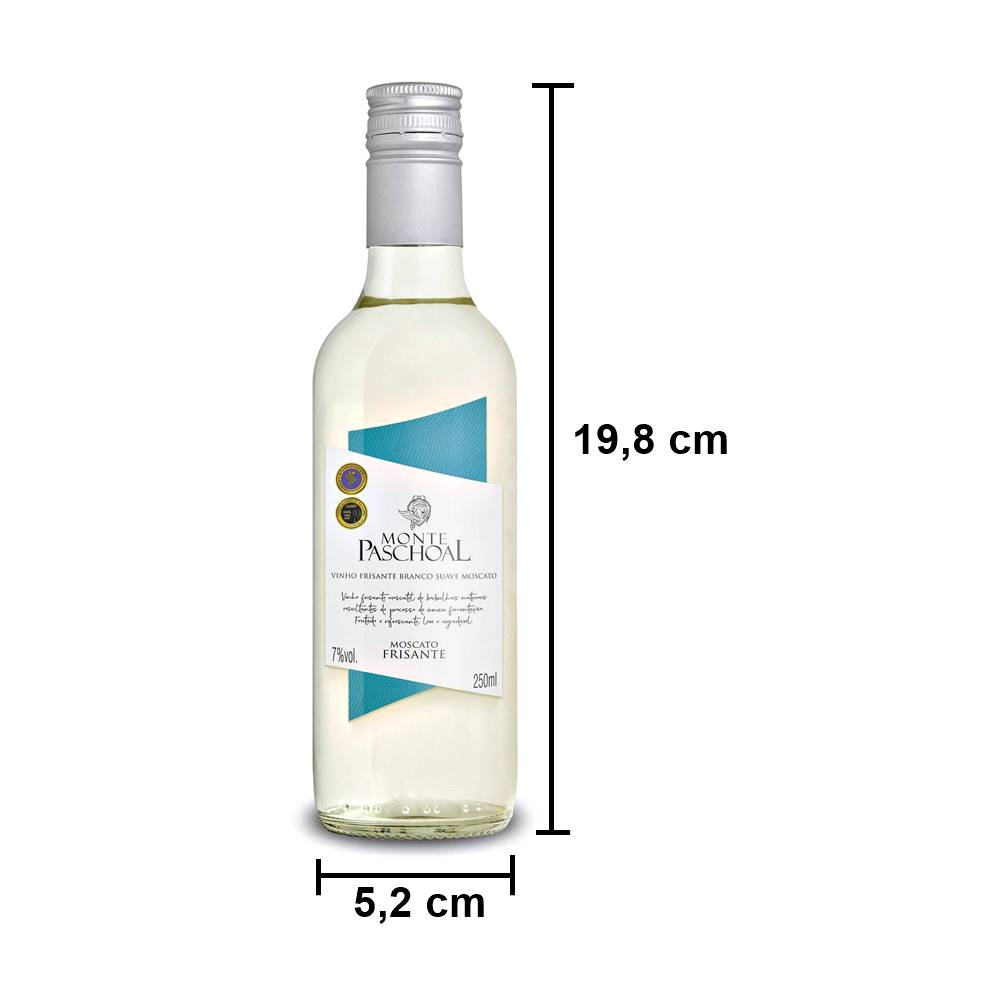 Mini Vinho Frisante Monte Paschoal Moscatel Branco 250ml