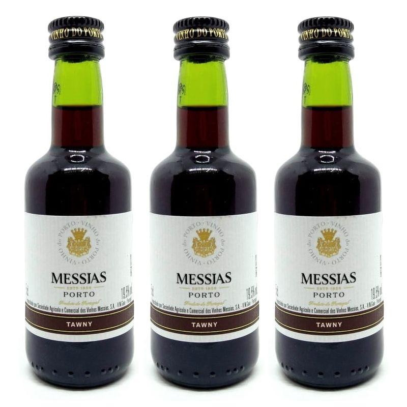 Miniatura Mini Vinho Do Porto Messias Tawny 50ml 03 Unidades