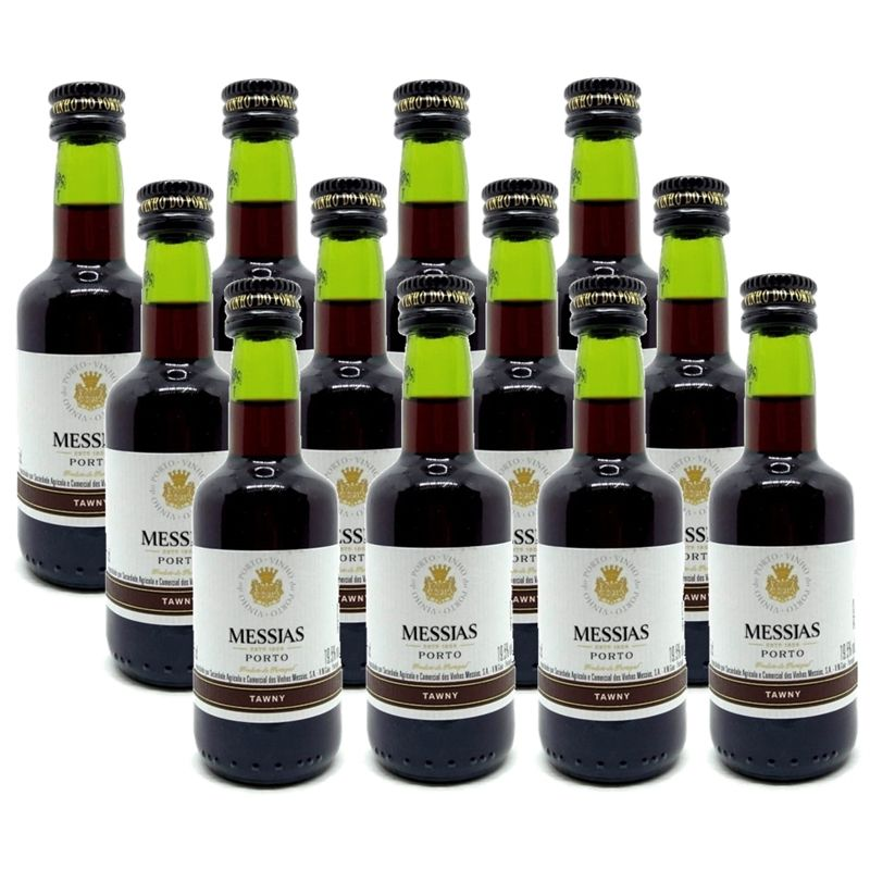 Miniatura Mini Vinho Do Porto Messias Tawny 50ml 12 Unidades