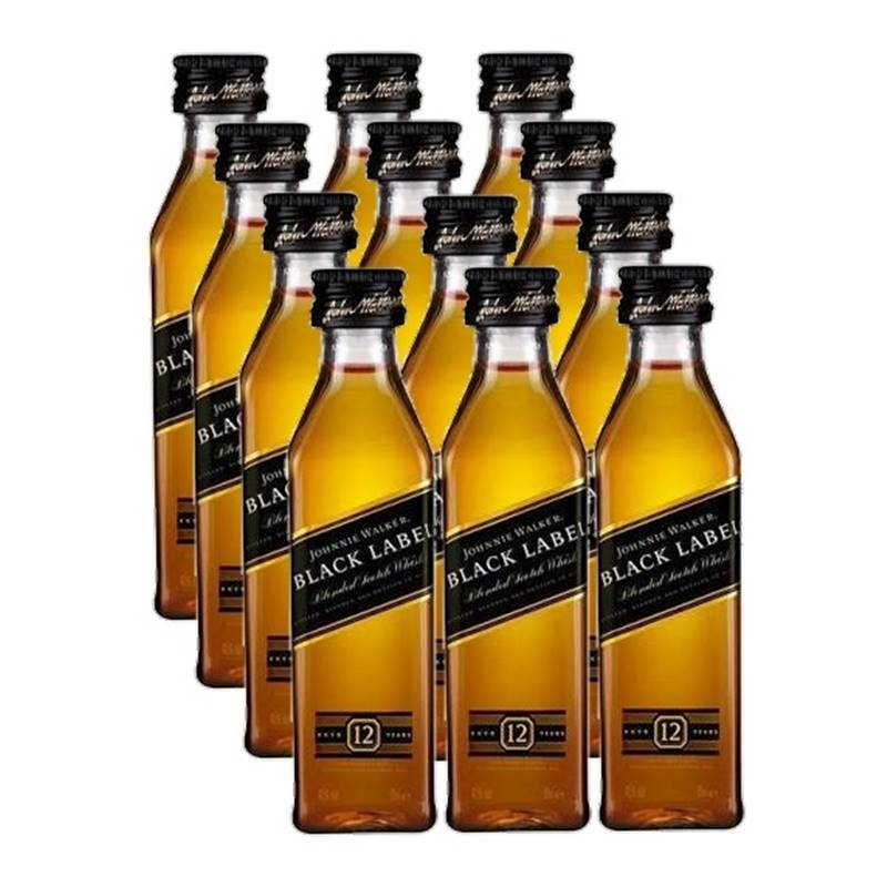 Miniatura Mini Whisky Black Label 50ml 12 Unidades
