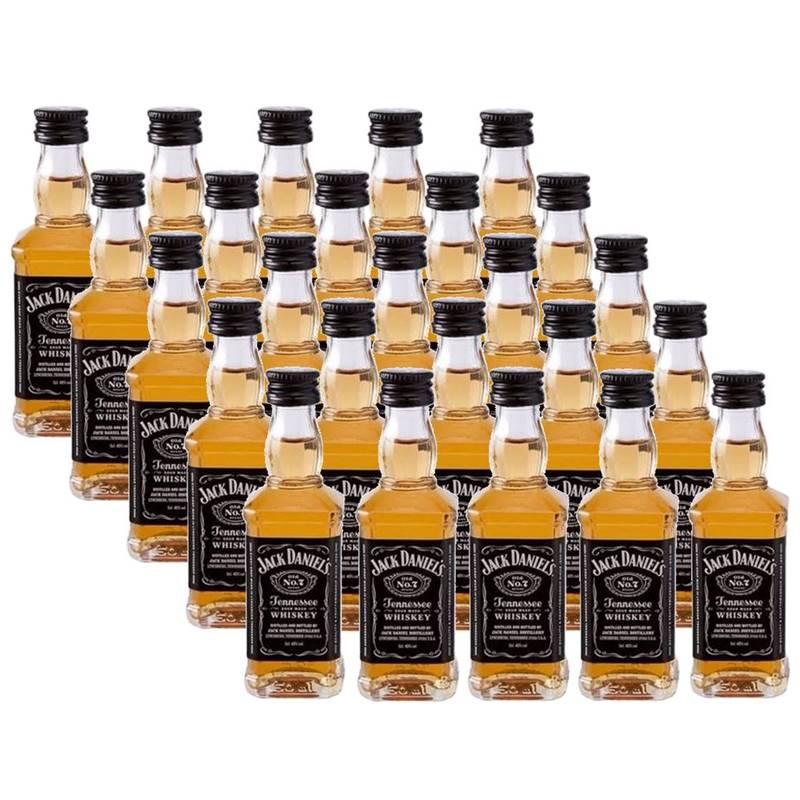 Miniatura Mini Whisky Jack Daniels 50ml 20 Unidades
