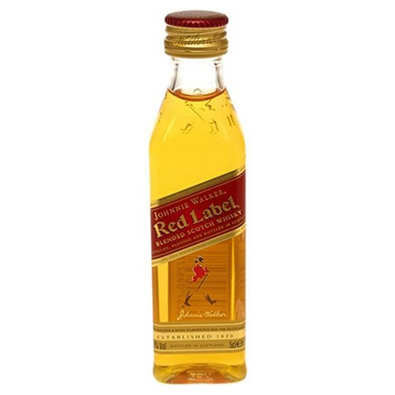 Miniatura Mini Whisky Red Label 50ml 06 Unidades