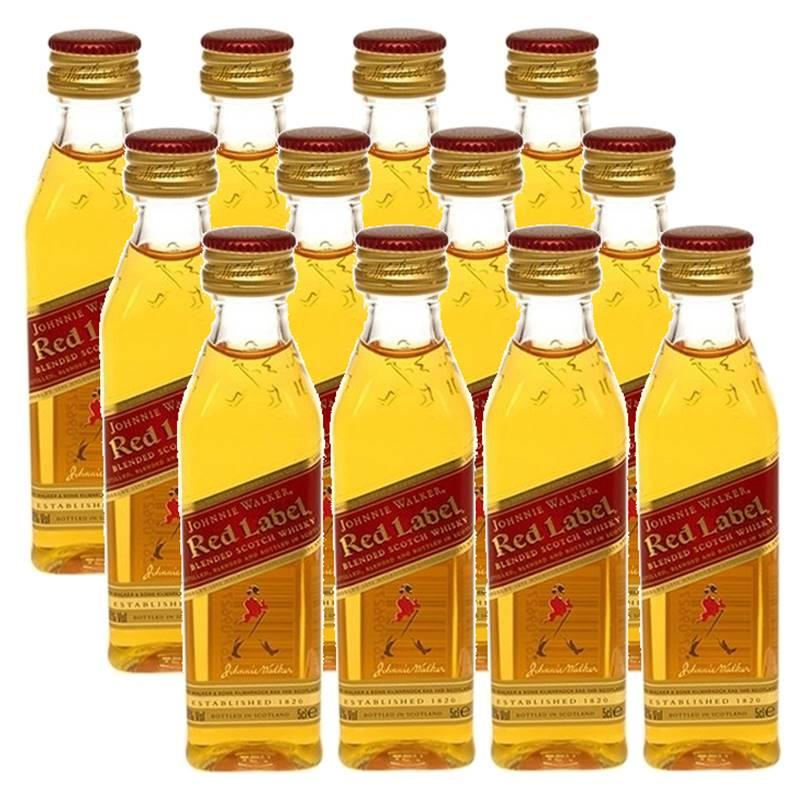 Miniatura Mini Whisky Red Label 50ml 12 Unidades