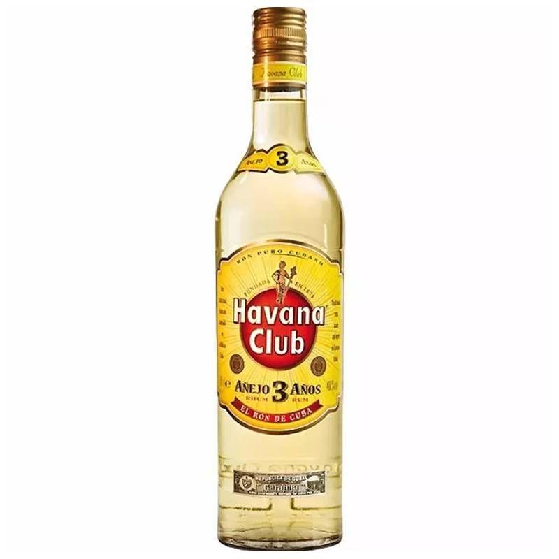 Rum Havana Club Anejo 3 Anos 750ml 03 Unidades