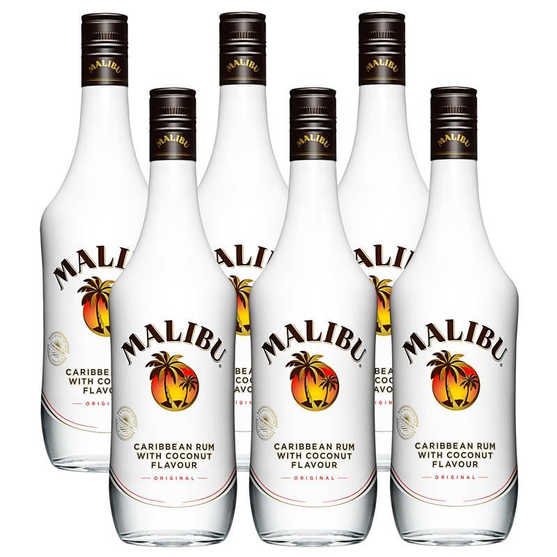 Rum Malibu Coconut 750ml 06 Unidades