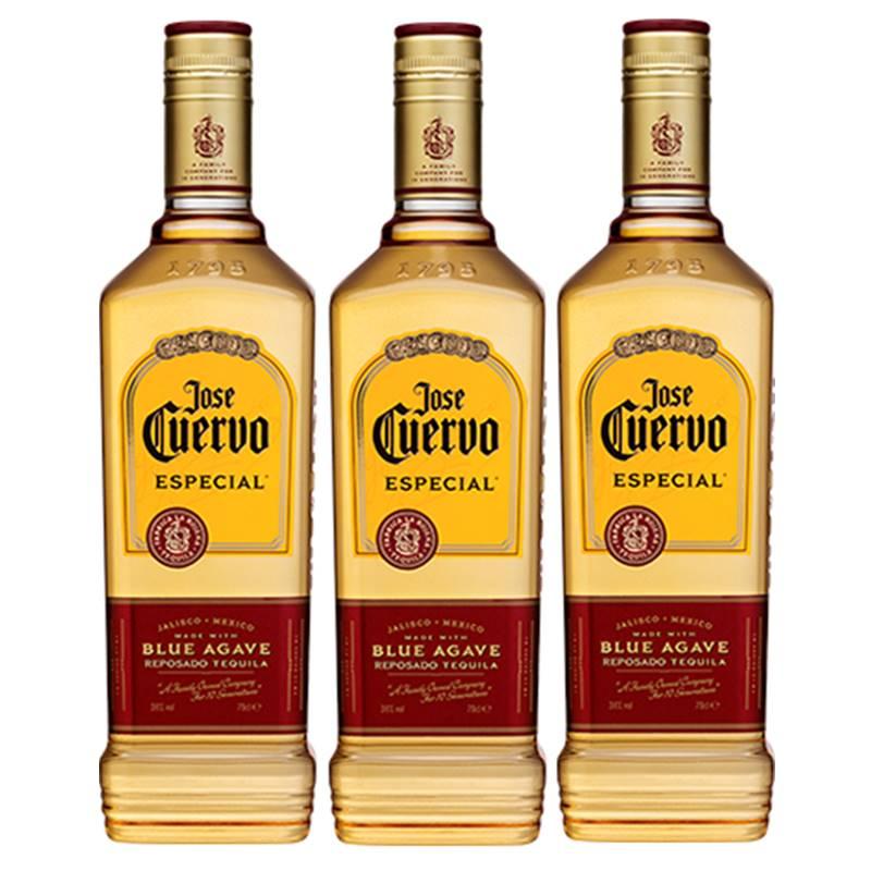 Tequila Jose Cuervo Ouro 750ml 03 Unidades