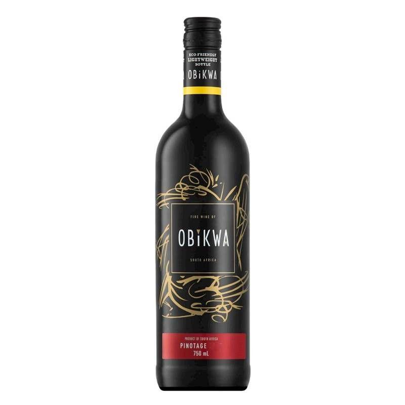 Vinho Africano Obikwa Pinotage 750ml 03 Unidades