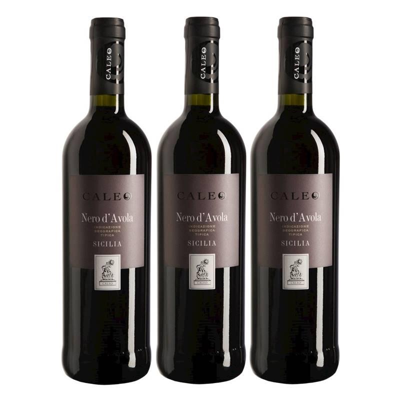 Vinho Caleo Nero D Avola 750ml 03 Unidades