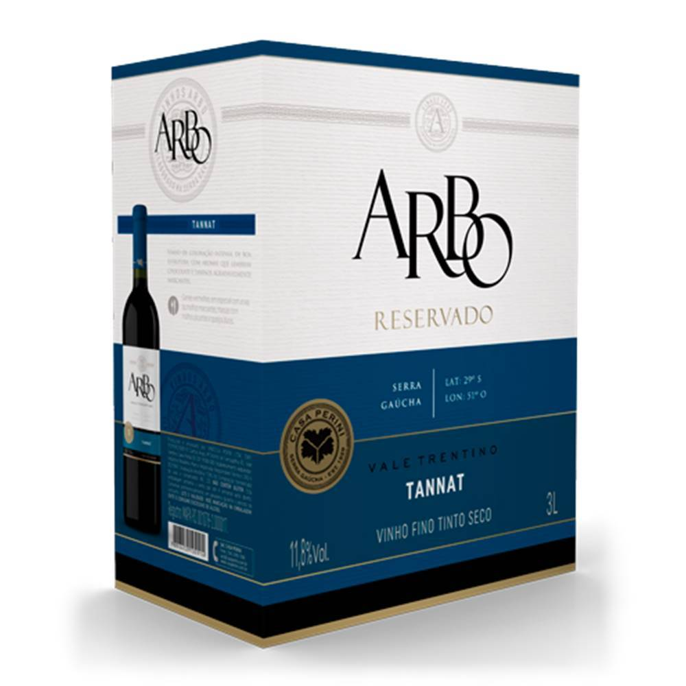 Vinho Casa Perini Arbo Tannat Bag in Box 3 Lt