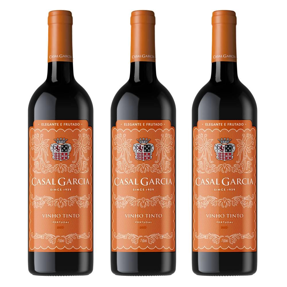 Vinho Casal Garcia Tinto 750ml 03 Unidades