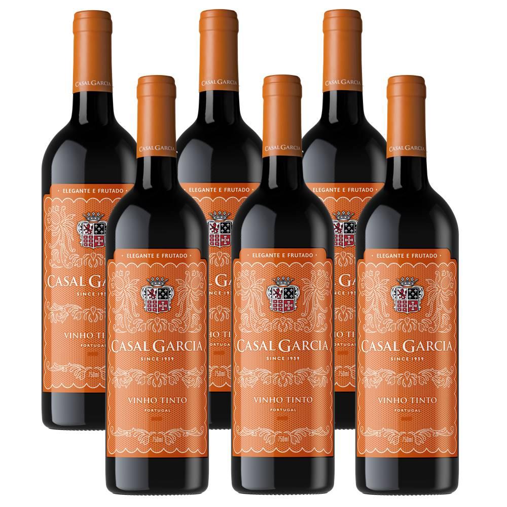 Vinho Casal Garcia Tinto 750ml 06 Unidades