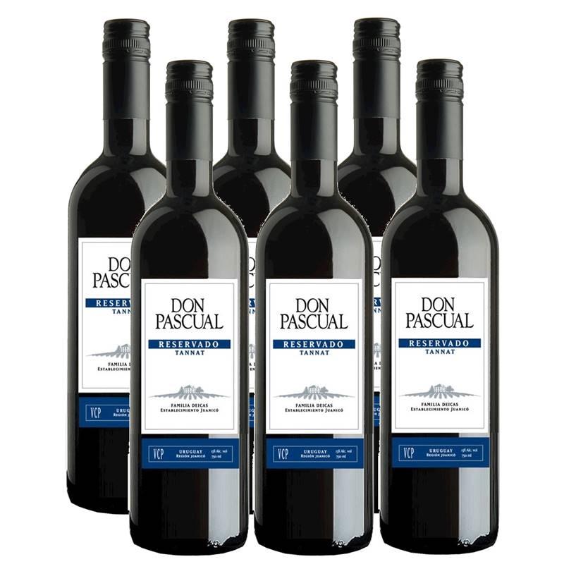Vinho Don Pascual Tannat Reservado 750ml 06 Unidades