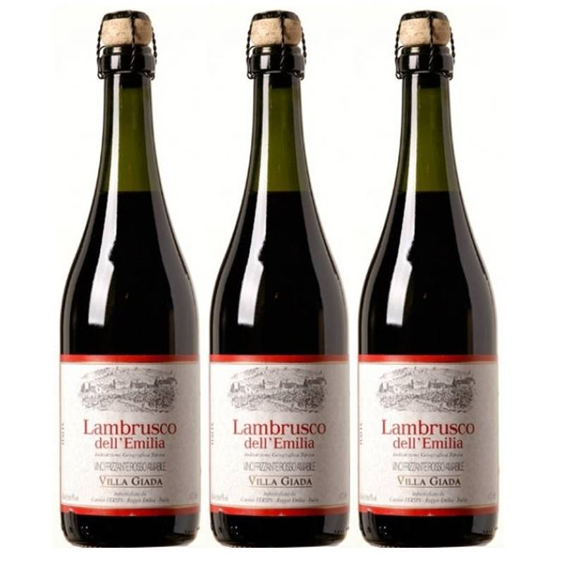 Vinho Frisante Lambrusco Dell Emilia Villa Giada Tinto 03 Un