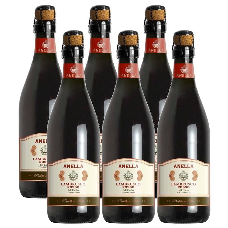 Vinho Frisante Lambrusco Tinto Anella 750ml 06 Unidades