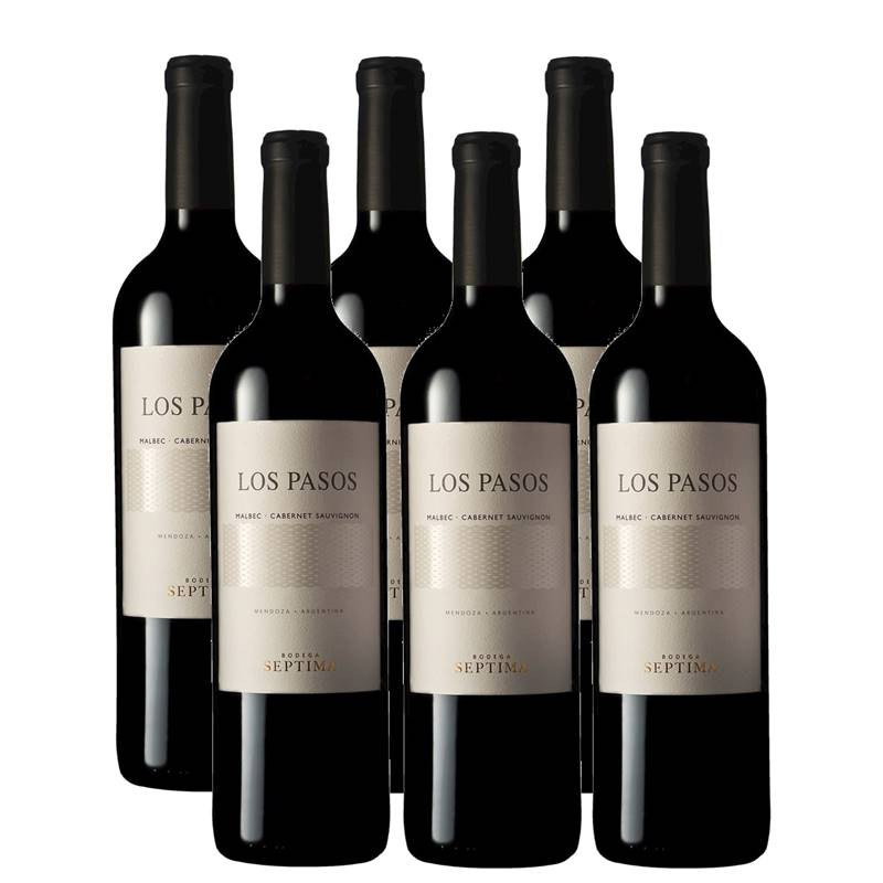 Vinho Los Pasos Malbec- Cabernet Sauvignon 750ml 06 Unidades
