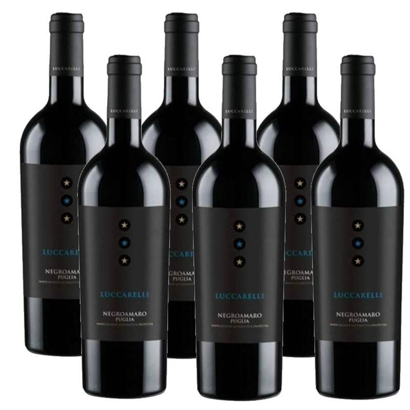 Vinho Luccarelli Negroamaro 750ml 06 Unidades