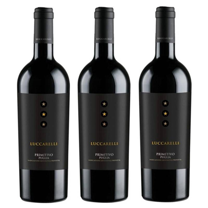 Vinho Luccarelli Primitivo 750ml 03 Unidades