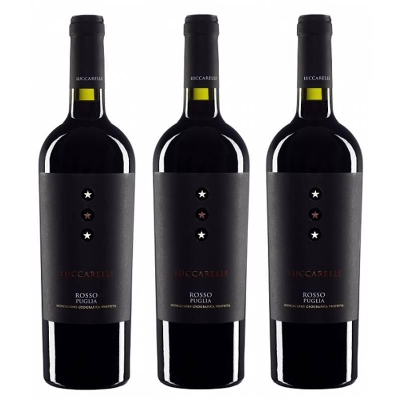Vinho Luccarelli Rosso 750ML 03 Unidades