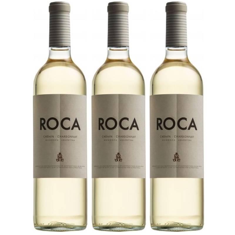 Vinho Roca Chenin Chardonnay Branco 750ml 03 Unidades