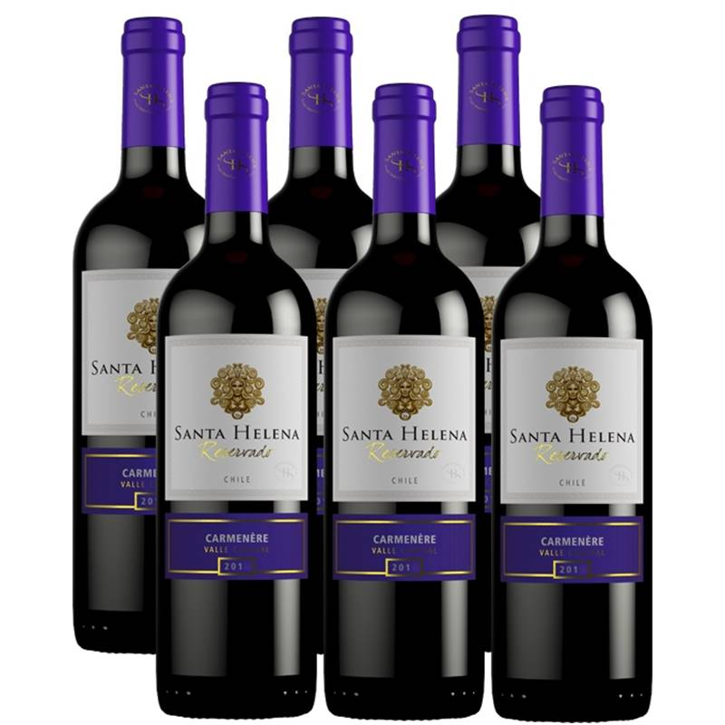 Vinho Santa Helena Reservado Carmenere 750ml 06 Unidades