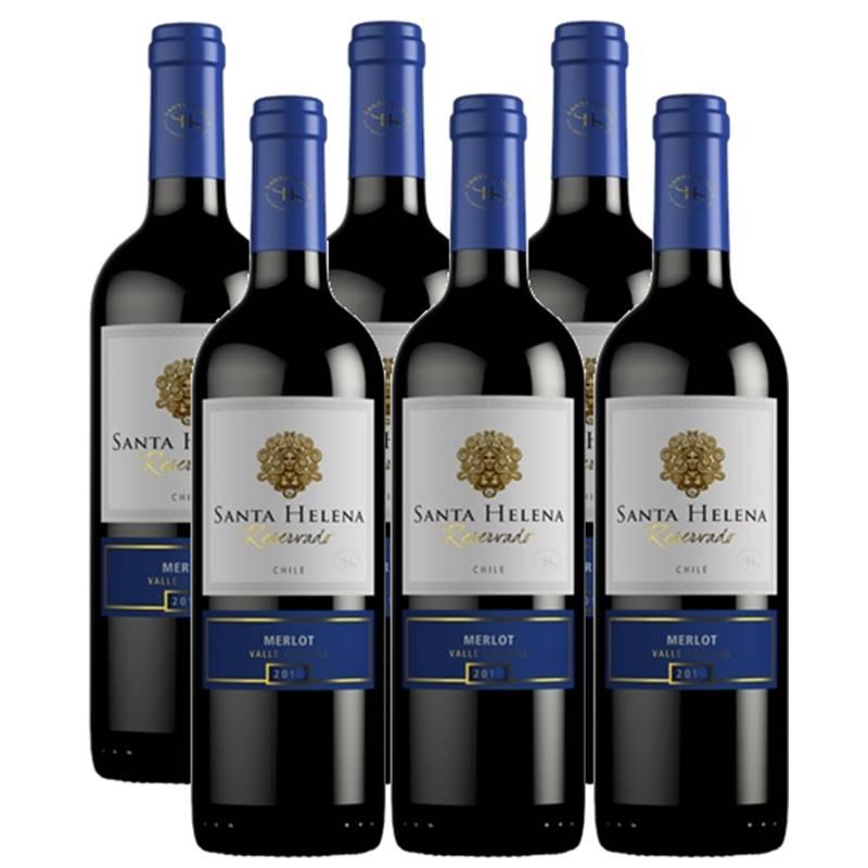 Vinho Santa Helena Reservado Merlot 750ml 06 Unidades