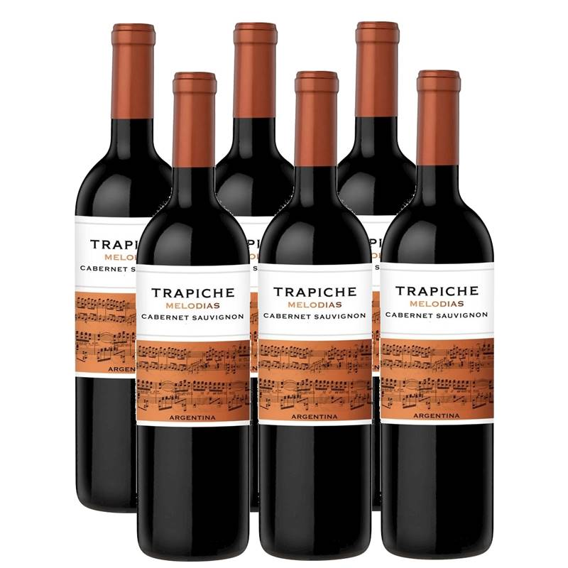 Vinho Trapiche Melodias Cabernet Sauvignon 750ml 06 Unidades
