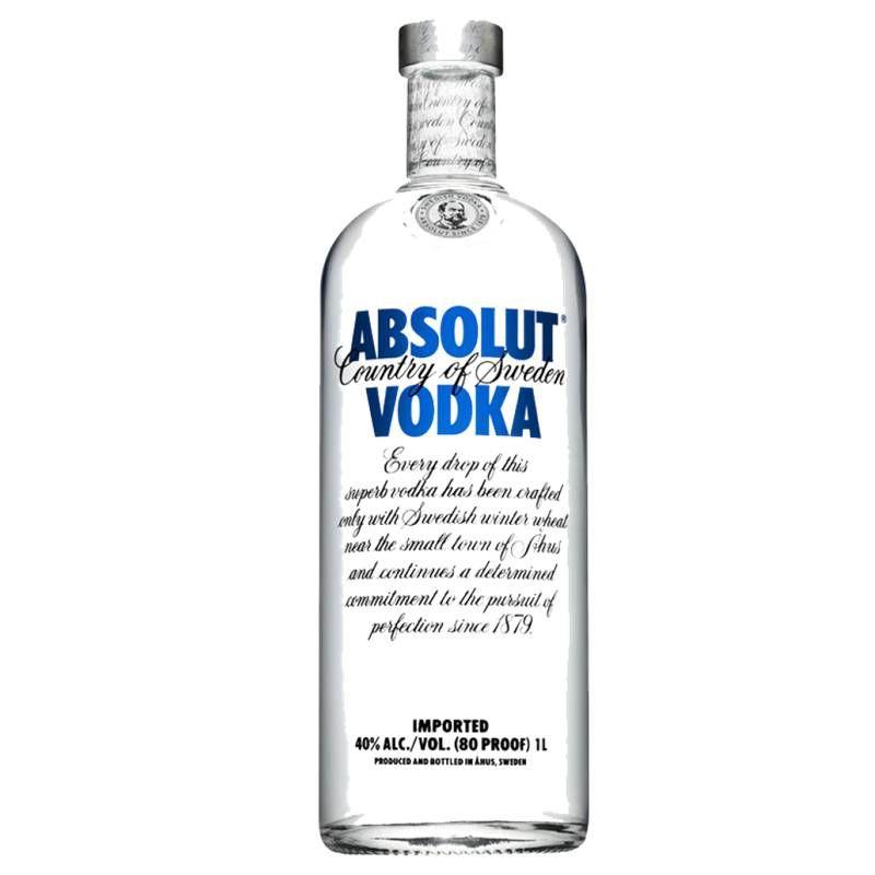 Vodka Absolut Natural 1 Lt 03 Unidades