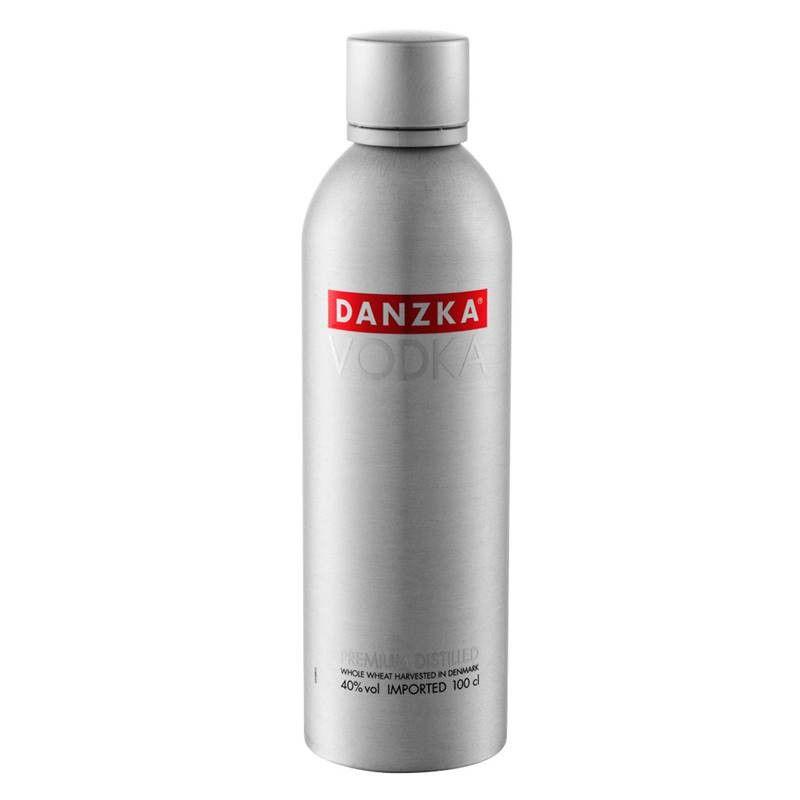 Vodka Danzka 1 Lt Garrafa Alumínio 03 Unidades