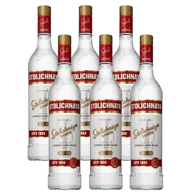 Vodka Stolichnaya 750ml 06 Unidades