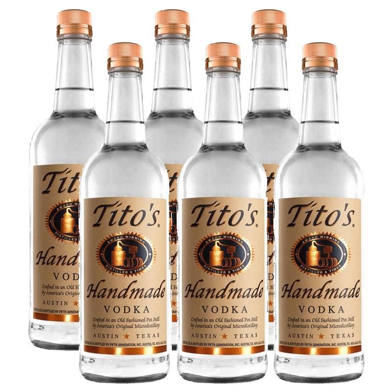 Vodka Titos Handmade 750ml 06 Unidades