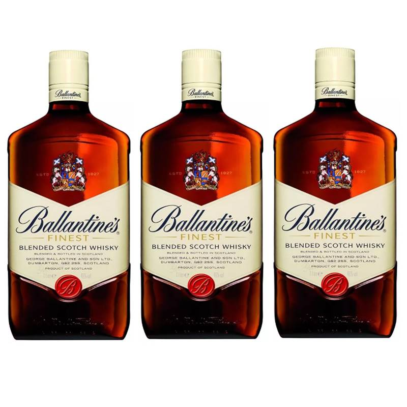 Whisky Ballantines Finest 08 Anos 1 Lt 03 Unidades