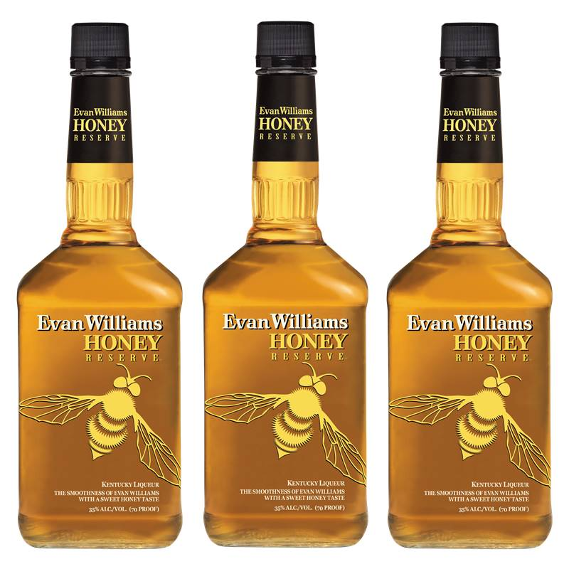 Whisky Evan Williams Honey Mel 750ml 03 Unidades