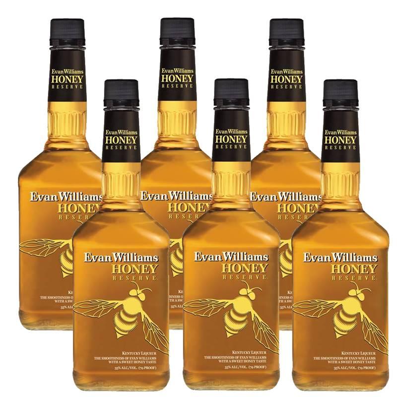 Whisky Evan Williams Honey Mel 750ml 06 Unidades