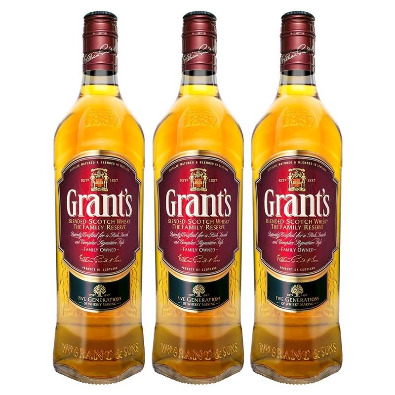 Whisky Grants Family Reserve 1 Lt 03 Unidades