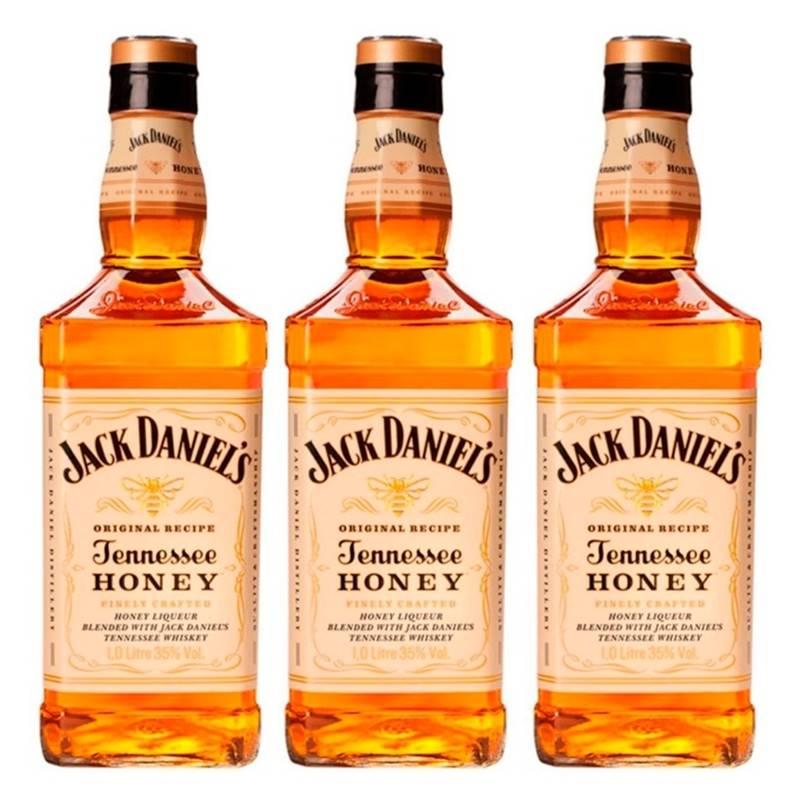 Whisky Jack Daniel's Honey Mel 1 Litro Com Caixa 03 Unidades