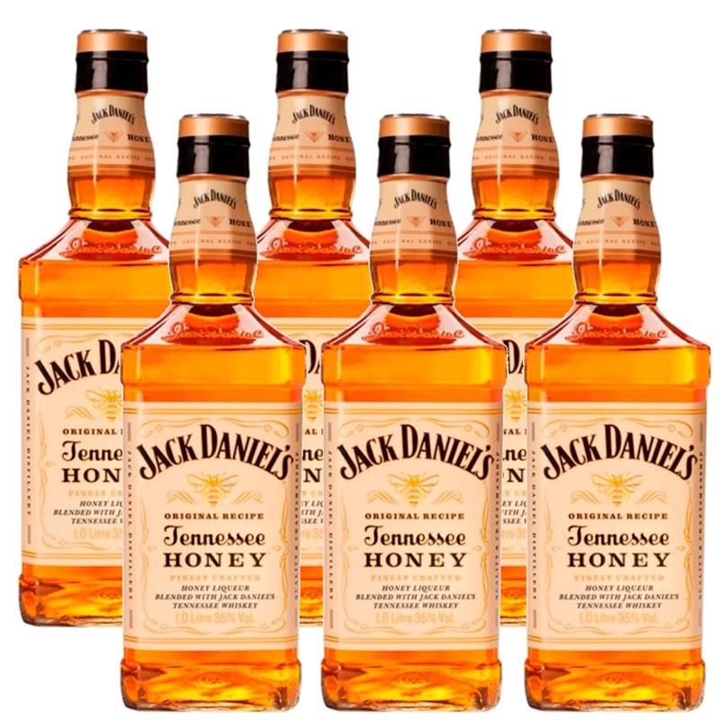 Whisky Jack Daniel's Honey Mel 1 Litro Com Caixa 06 Unidades