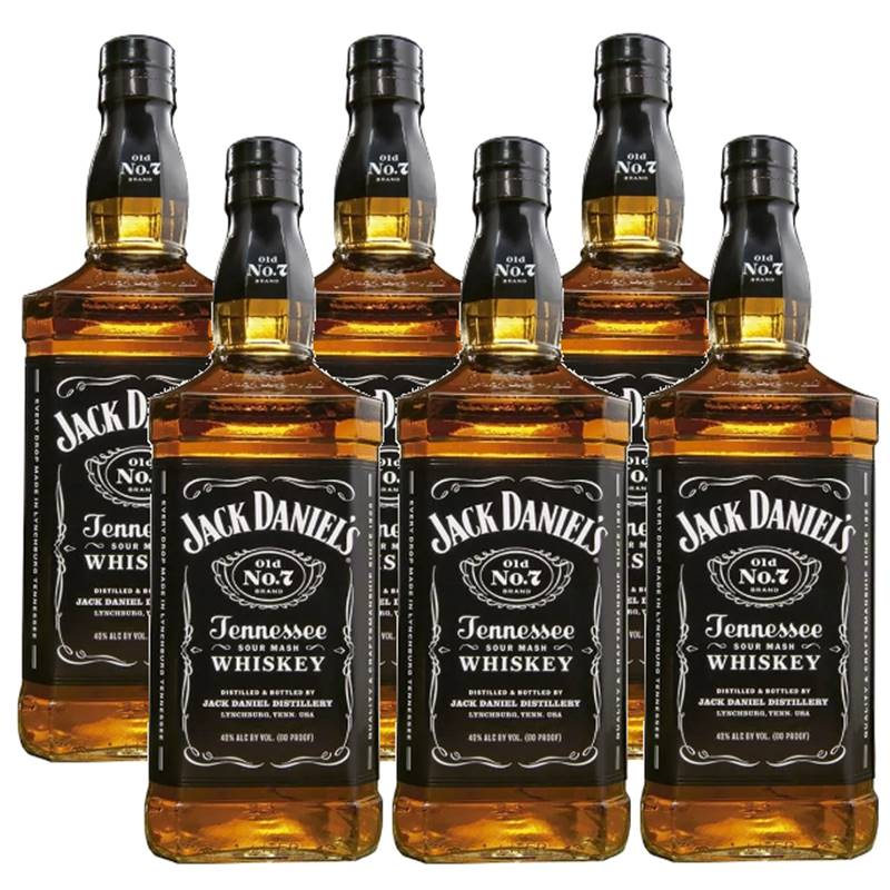 Whisky Jack Daniel's Tennessee 1 Litro 06 Unidades