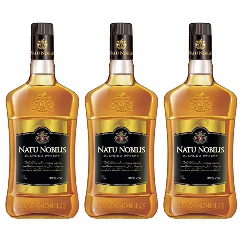 Whisky Natu Nobilis 1 Lt 03 Unidades