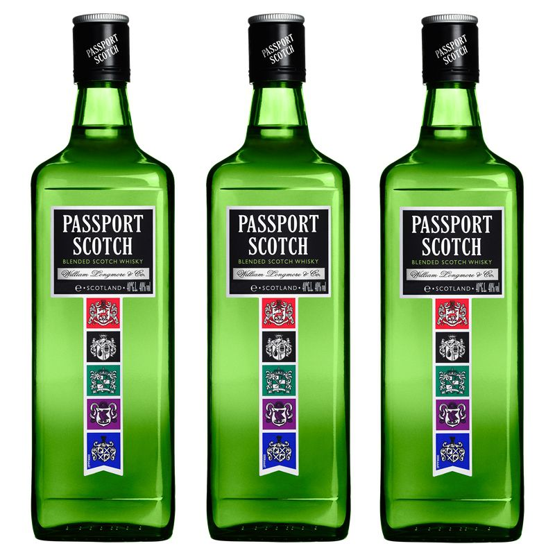 Whisky Passport Scotch 1 Lt  03 Unidades