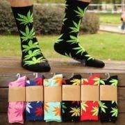 Meia Weed tamanho único