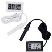 Mini Termômetro Higrômetro Digital Lcd sensor externo