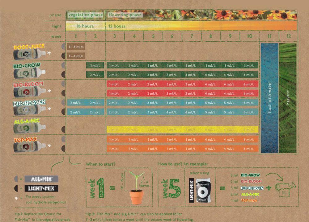 BioGrow Biobizz Base NPK Orgânica Vega e Flora
