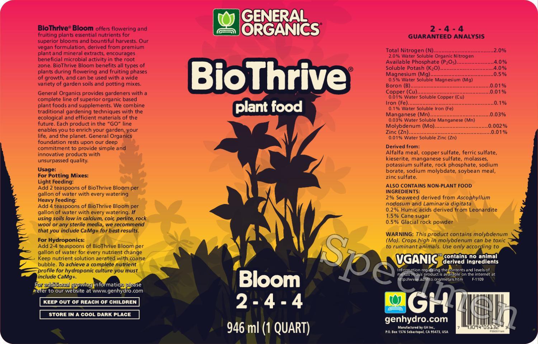 Biothrive Bloom General Organics