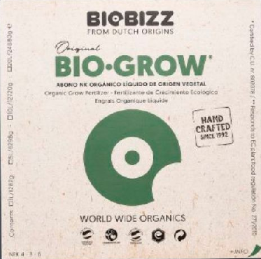 Kit Biobizz  BioBloom +BioGrow fracionado 100ml